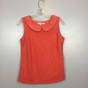 Boden Coral Crochet Sleeveless Top | 6R
